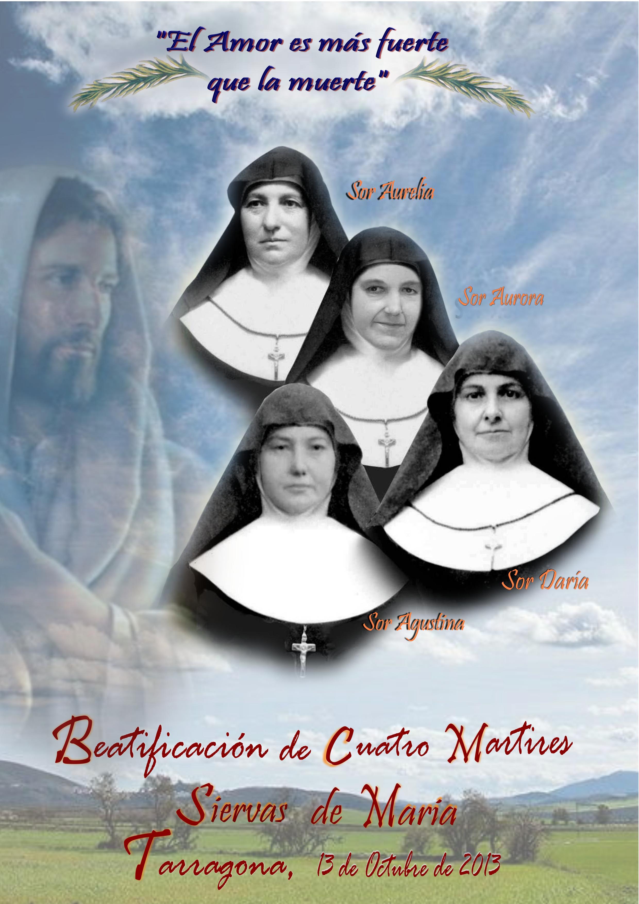 Martires, Siervas de María